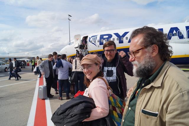 Llegando a Bélgica